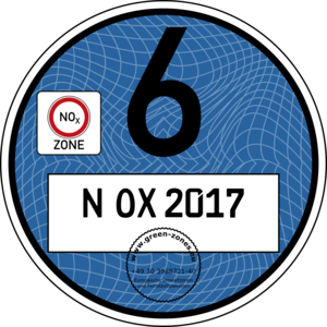 Blue NOx Badge N OX 2017 (Guilloche)