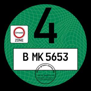 Grüne Plakette B MK 5653 (Guilloche)
