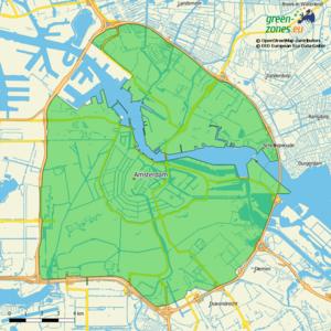 Umweltzone Amsterdam A10 - Niederlande